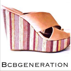💚 BCBGeneration Tan Wedges 😍